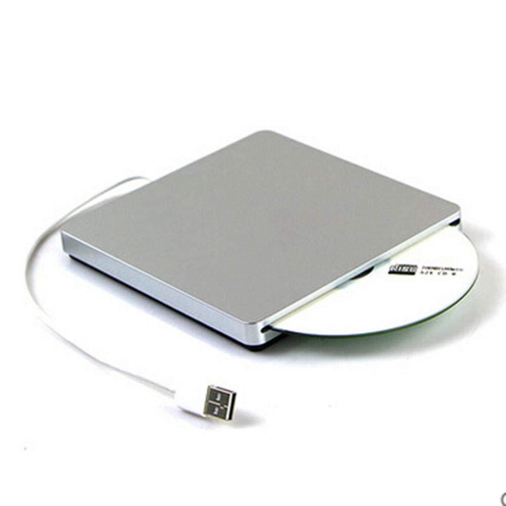 WIBIS External CD DVD Drive, USB 2.0 Inhaled Blu-ray External Mobile DVD Burner Drive Portable Universal Recorder, for 98SE/ME/2000/XP/Vista/Win7/8/10, Mac OS8.6 and Above