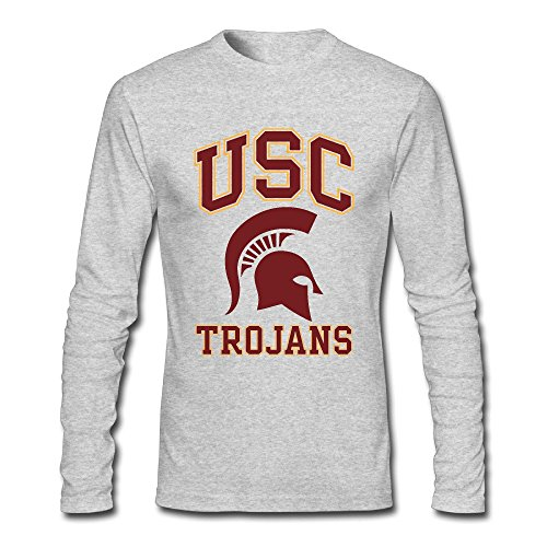 Men's University Of Southern California USC Trojans Long Sleeve T-Shirt Gray (Trojans Tee Usc)