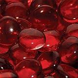 Glass Beads Fireplace Glass- Sangria 1/2 Inch - 25 Lbs