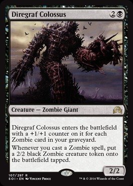 Magic: the Gathering - Diregraf Colossus (107/297) - Shadows Over Innistrad