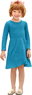 product image for City Threads Girls Cross Skirt Thermal Long Sleeve Dress - Party, School or Play - Made in USA