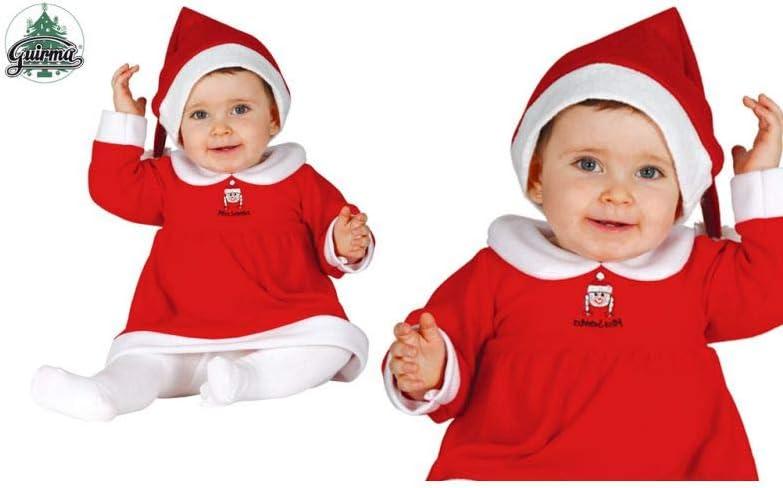GUIRMA - Disfraz de Mamá Noel, Rojo, 1-2 años: Amazon.es: Hogar