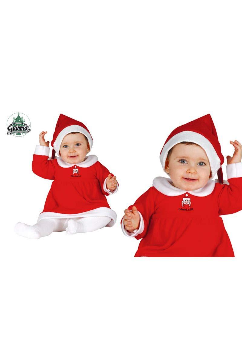 GUIRMA 42520 Traje Mama Noel 6-12 Meses Gorro + Vestido, Multicolor