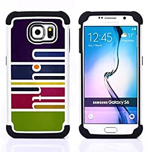 "Hypernova Híbrido Heavy Duty armadura cubierta silicona prueba golpes Funda caso resistente Para Samsung Galaxy S6 / SM-G920 SM-G920 [Arte abstracto""]"