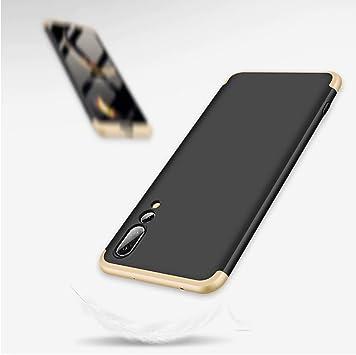 MISSDU reemplazo para Funda Samsung Galaxy A70 2019 360 Carcasa Exact Slim de protecci/ón Completa y Protector de Pantalla de Vidrio Templado Oro Rosa