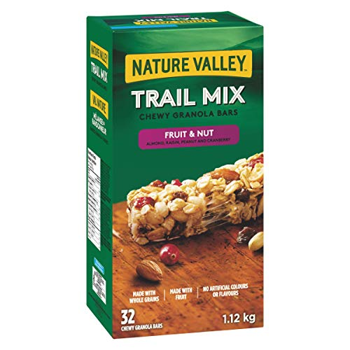 NATURE VALLEY Trail Mix Fruit and Nut Chewy Granola Bars, 32-Count, 1120 Gram