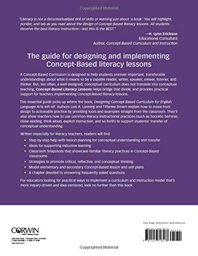 Concept-Based Literacy Lessons: Designing Learning to Ignite ...