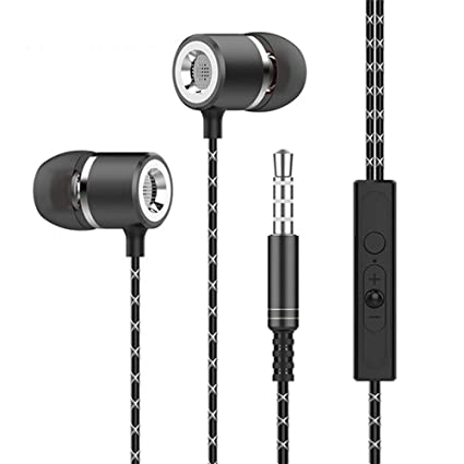 Wanga Bass Sound Earphone in-Ear Sport Earphones with mic for xiaomi iPhone Samsung Headset
