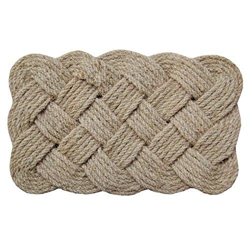 18 x 30 in. Lovers Knot Coir Indoor/Outdoor Doormat, Brown/Natural