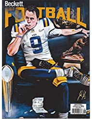 NEWEST GUIDE: Beckett Football Card Monthly Price Guide (June 19, 2020 release/J. Burrow cover)