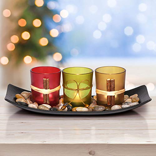LETINE Cute Candle Holders Set Fit in LED Lights. Centerpieces for Coffee Table, Bathroom Decor. Decorations for…
