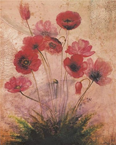 Oil Painting 'Red Poppies', 8 x 10 inch / 20 x 25 cm , on High Definition HD canvas prints is for Gifts And Bar, Kids Room And Powder Room Decoration, decor