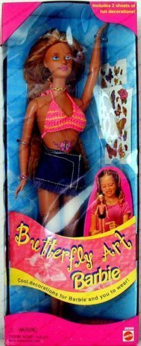 Barbie Butterfly Art Doll (1998) [Holiday Gifts]