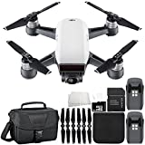 DJI Spark Portable Mini Drone Quadcopter Essential Travel Bundle (Alpine White)