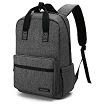 BAGSMART Stylish Travel Backpack Fit Up to 14 Inch Laptop
