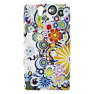 Colorful Flower Pattern Protective Soft TPU Case Soft Case for Sony Xperia Z L36h
