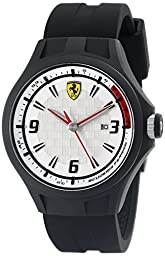 Ferrari Men\'s 0830001 Pit Crew Analog Display Quartz Black Watch