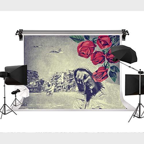 Art War Guns and Roses Background Photo Photography Backdrop House Decor YouTube Customized Background 9x6FT STS YXD023