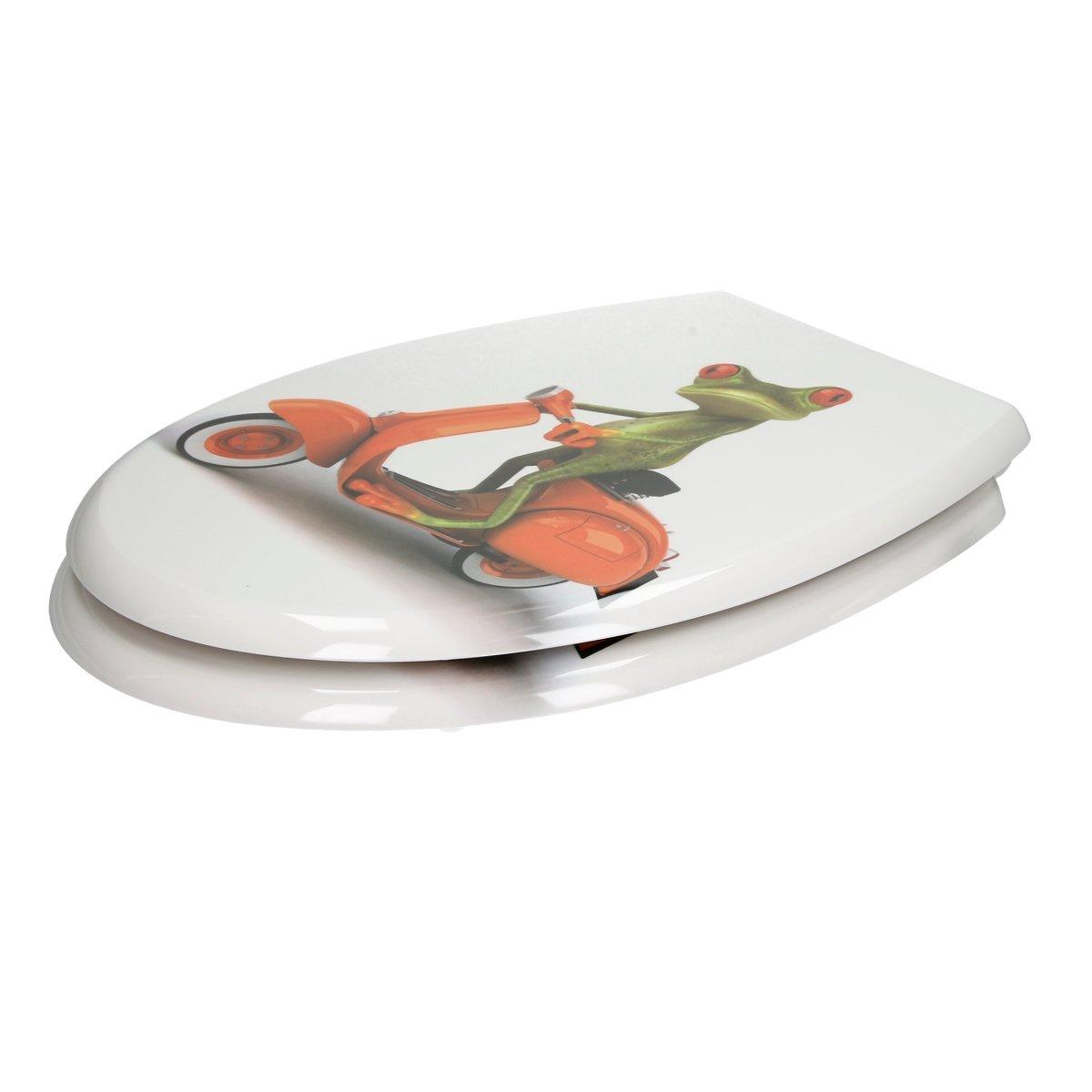 ECD Germany Asiento de Inodoro Londres Premium Duroplast Tapa de Inodoro con Cierre Suave Desmontable /& Capa Antibacterial Incluye Material de Montaje