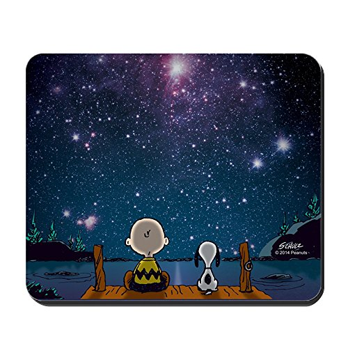 CafePress Spaced Out Peanuts Non-Slip Rubber Mousepad, Gaming Mouse Pad (Snoopy Computer Mouse)
