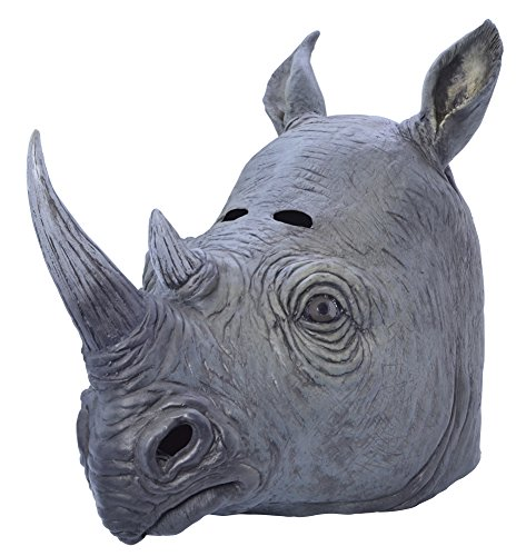 Bristol Novelty BM445 Rhino Mask, One Size