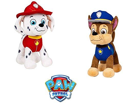 Patrulla Canina (Paw Patrol) - Peluche personaje Marshall, dalmata bombero (51cm de pie) Calidad Super Soft - Color Rojo: Amazon.es: Juguetes y juegos