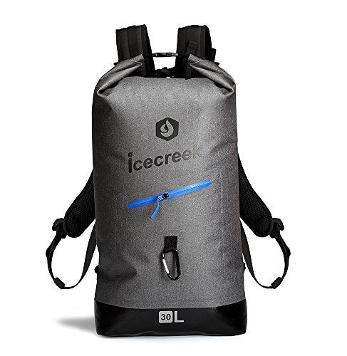 (Waterproof TPU Backpack Dry Bag- Roll-Top Closure and Cushioned Padded Back Panel, with Easy Access Front Splash-proof Zippered Pocket and Reflective Printing, Stylish Design For Outdoor Research)
