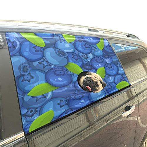 Blueberry Curtain - Health Protective Blueberries Pet Dog Safety Car Part Vehicle Auto Window Fence Curtain Barriers Protector for Baby Kid Sun Shade Cover Universal Fit SUV