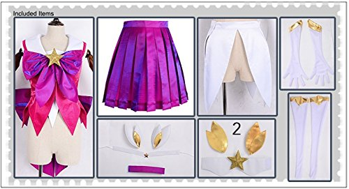 Amazon.com Miccostumes Womenu0027s League Of Legends The Lady Luminosity Star Guardian Lux Costume Clothing  sc 1 st  Amazon.com & Amazon.com: Miccostumes Womenu0027s League Of Legends The Lady ...