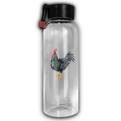 Gallo de Cristal Botella de agua - botellas de vidrio con tapas para exprimir o bebidas