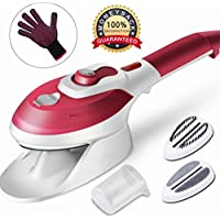 Portable Garment Steamer for Clothes /Travel Iron/Handheld Fabric Steamer, Household Steamer, Steam Humidifier Handy Vapor Steamer to Iron Clothes Fast Heat-up for Home and Travel(Wine Red)