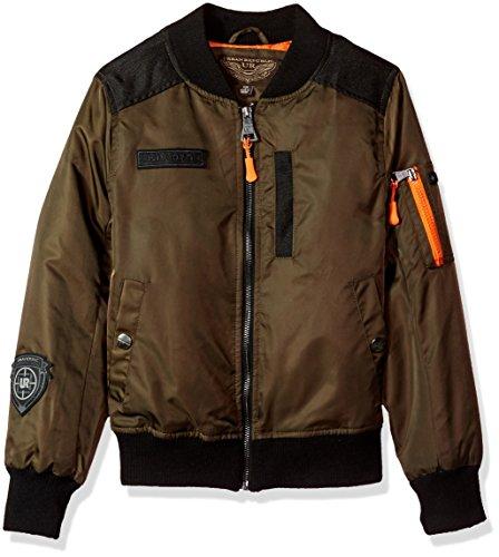 - Urban Republic Big Ur Boys Poly Twill Jacket, Olive 6141LV, 10/12