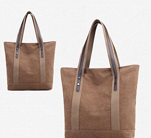 LANDONA La Mujer Bolsas, bolsas de mano, bolsos de hombro, bolsos de la moda simple, bolsas grandes Casual Capacidad, Colegio brisa, bolsa de mensajeria, Nueva grises. Coffee