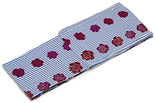 電気技師すでに価値のない(ボヌールセゾン) bonheur saisons レディース浴衣 Jouer ete couleur modern 縞 薔薇 綿 フリーサイズ