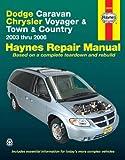 Dodge Caravan, Chrysler Voyager & Town & Country 2003 thru 2006 (Haynes Repair Manual)