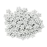 Pack of 100 White Snowflakes Wood Buttons Embellishments for Craft 17mm