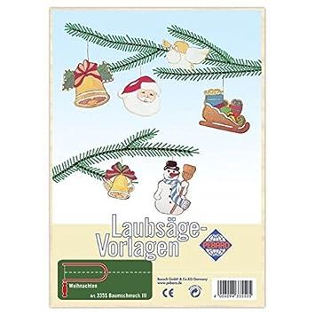 Matches21 Christbaum Schmuck Weihnachtsmotive Holz 6er