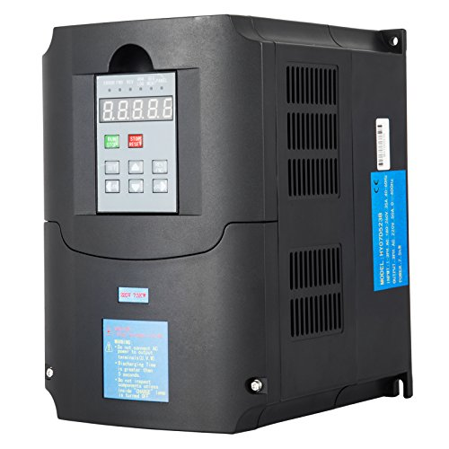 Mophorn 220V 7.5KW VFD Variable Frequency Drive CNC VFD Motor Drive Inverter Converter for CNC Router Milling Machine Spindle Motor Speed Control (7.5KW VFD)