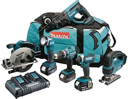 MAKITA Pack 6 machines DLX6068PT avec 3 batteries 18V 5Ah Li-ion, sac de transport et chargeur DC18RD: Amazon.es: Bricolaje y herramientas