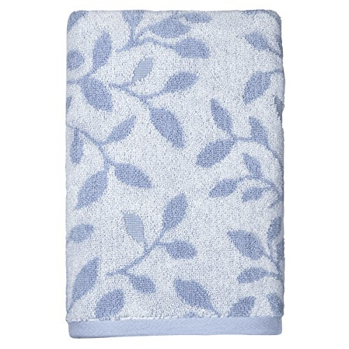 Peri Home Vines Hand Towel, 100Percent Cotton, Blue, 15