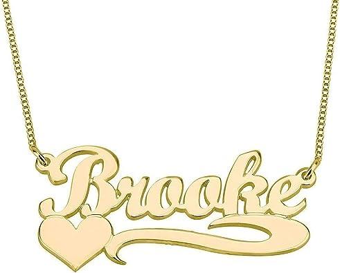 YINSHIFU Personalized Monogram Necklace 14K Gold Plated Key Necklace Custom Made Pendant with Any Initials