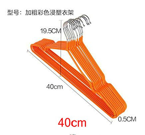 MIAOQUTONG 10Pcs/Lot Stainless Steel Plastic Hangers Antiski