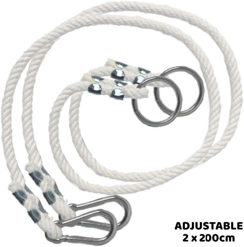2 x prolunga per Corda di Altalena con moschettone in Metallo Corde di prolungamento per altalene 1m Prodotta nellUE MAMOI Corda per Altalena di 100 kg