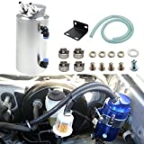 #7: Dewhel Universal Cylindrical JDM 750ml Aluminum Engine Oil Catch Can Reservoir Tank (Silver)