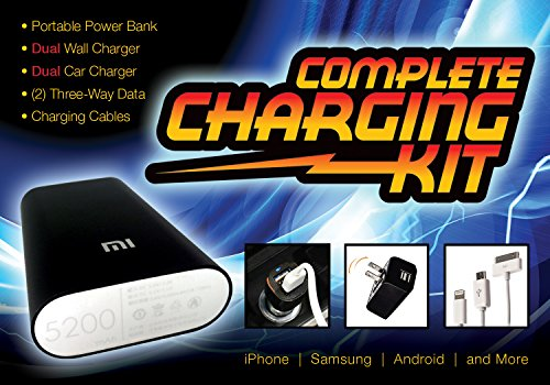 COMPLETE CELL PHONE CHARGING KIT (BUNDLE)