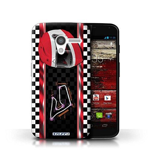 Kobalt® Imprimé Etui / Coque pour Motorola MOTO X / Autriche/Spielberg conception / Série F1 Piste Drapeau