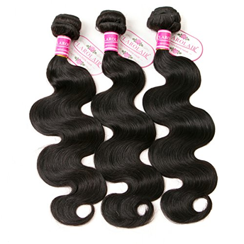 CLAROLAIR Brazilian Body Wave Virgin Hair Brazilian Vigin Hair 3 Bundles Vigin Brazilian Hair Body Wave Natural Color (100+/-5g)/pc 16 18 20 Inch from CLAROLAIR