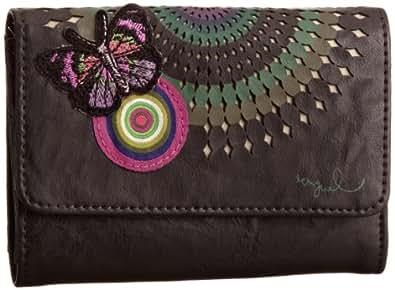 Desigual Mone_Rueda 27X52296009U - Monedero para mujer, color marrón, talla 15x11x3 cm