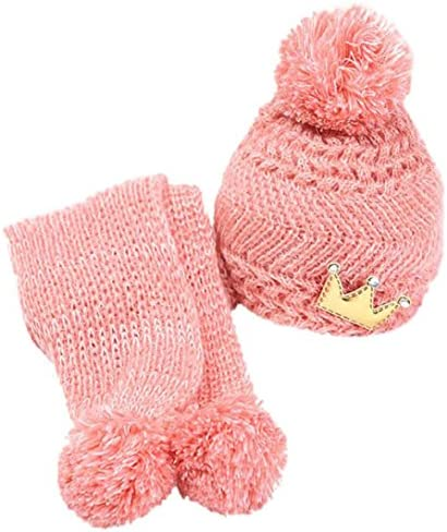 kooleeかわいい冬ベビーキッズガールズボーイズ暖かいウールCoifフードスカーフキャップ帽子2ヶ月1歳の赤ちゃん用