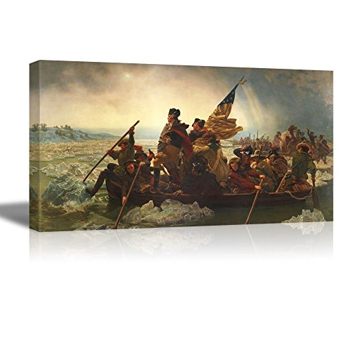 Washington Crossing the Delaware by Emanuel Gottlieb Leutze Famous Fine Art Reproduction World Famous Painting Replica 18 W x 36 L